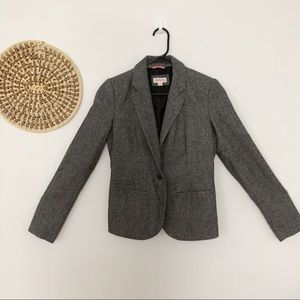 Merona gray wool fitted blazer